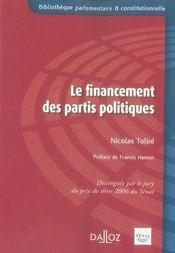 Le financement des partis politiques - Intérieur - Format classique