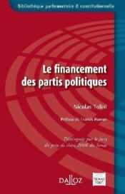 Le financement des partis politiques - Couverture - Format classique