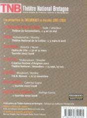 REVUE L'AVANT-SCENE THEATRE N.1220 ; Electre - 4ème de couverture - Format classique