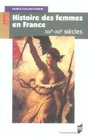 Histoire des femmes en france xixe-xxe siecle - Intérieur - Format classique
