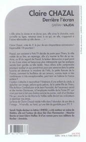 Claire Chazal. Derriere L'Ecran ; Biographie Romancee - 4ème de couverture - Format classique