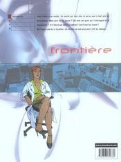 Frontiere T.1; Souviens-Toi - 4ème de couverture - Format classique