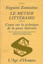 Metier Litteraire (Le) - Couverture - Format classique