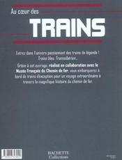 Au Coeur Des Trains - 4ème de couverture - Format classique