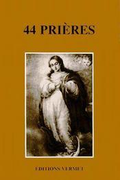 44 prières - Couverture - Format classique