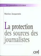 Protection Des Sources Des Journalistes - Intérieur - Format classique
