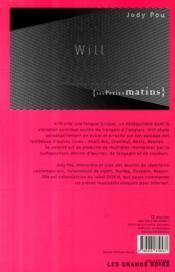 Will - 4ème de couverture - Format classique