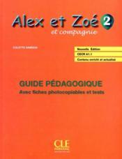 ALEX ET ZOE ; français ; niveau 2 ; guide pédagogique - Couverture - Format classique