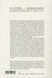 Les Cahiers De La Nrf ; Correspondance ; (1908-1953). Braises Ardentes, Semences De Feu - 4ème de couverture - Format classique