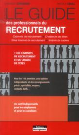 Le guide des professionnels du recrutement (8e édition) - Couverture - Format classique