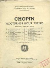 Trois Nocturnes Pour Piano - Op.15. - Couverture - Format classique