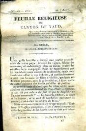 Feuille Religieuse Du Canton De Vaud - Annee 1831. - Couverture - Format classique