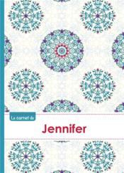 Le Carnet De Jennifer - Lignes, 96p, A5 - Rosaces Orientales - Couverture - Format classique