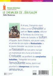 Le Chevalier De Jerusalem - 4ème de couverture - Format classique