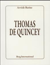 Thomas de Quincey - Couverture - Format classique