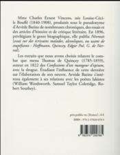 Thomas de Quincey - 4ème de couverture - Format classique