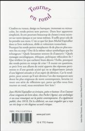 Tourner en rond ; de l'art d'aborder les ronds-points - 4ème de couverture - Format classique