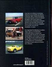 Les voitures de collection des années 60 - 4ème de couverture - Format classique