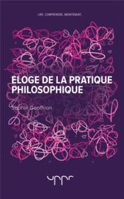 Éloge de la pratique philosophique - Couverture - Format classique