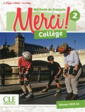 METHODE MERCI ; FLE ; collège ; 2 ; méthode CECR A1 (édition 2019) - Couverture - Format classique