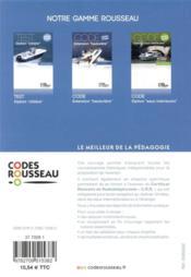 Code Rousseau ; option côtière - 4ème de couverture - Format classique