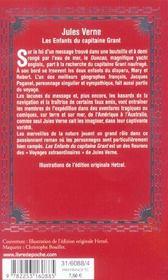 Les enfants du capitaine grant (en 1 volume) - 4ème de couverture - Format classique