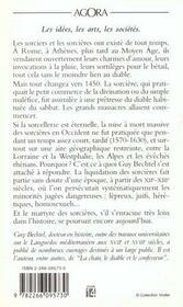 La Sorciere Et L'Occident ; La Destruction De La Sorcellerie En Europe, Des Origines Aux Grands Buchers - 4ème de couverture - Format classique