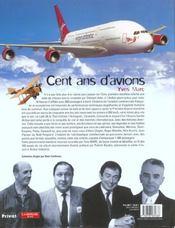 100 ans d4avions - 4ème de couverture - Format classique