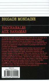 Brigade mondaine t.211 ; bacchanales aux Bahamas - 4ème de couverture - Format classique