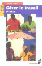 Gérer le travail (2e édition) - Intérieur - Format classique