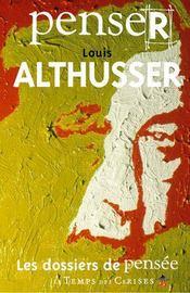 Penser Louis Althusser - Intérieur - Format classique