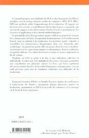 Traduire en lea - 4ème de couverture - Format classique