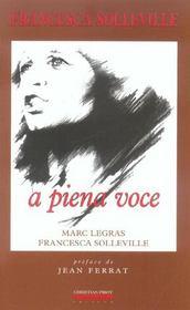 Francesca solleville,a piena voce - Intérieur - Format classique