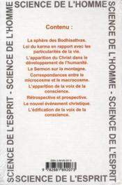 Impulsion du Christ et conscience du Moi - 4ème de couverture - Format classique