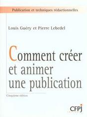 Comment Creer Et Animer Une Publication - Intérieur - Format classique