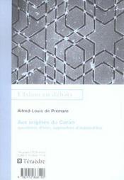 Aux Origines Du Coran - Intérieur - Format classique