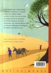 Les contes de l'olivier ; contes juifs et arabes réunis - 4ème de couverture - Format classique