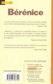 Bérénice - 4ème de couverture - Format classique