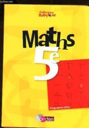 Maths 5e babylone manuel 06 - Couverture - Format classique