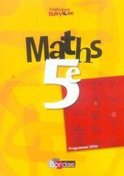 Maths 5e babylone manuel 06 - Intérieur - Format classique