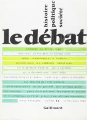 Revue Le Débat N.14 - Couverture - Format classique