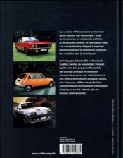 Les voitures de collection des années 70 - 4ème de couverture - Format classique
