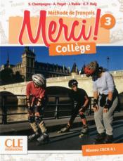 METHODE MERCI ; FLE ; collège ; 3 ; niveau CECR A1 (édition 2019) - Couverture - Format classique