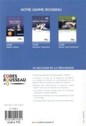 Code Rousseau ; test option côtière - 4ème de couverture - Format classique