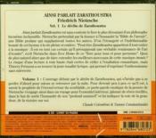 Ainsi parlait Zarathoustra t.1 - 4ème de couverture - Format classique