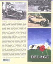 Delage, La Belle Voiture Francaise - 2eme Ed. - 4ème de couverture - Format classique
