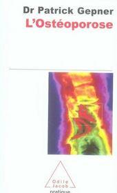 L'ostéoporose - Intérieur - Format classique