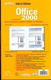 Office 2000. Microsoft - 4ème de couverture - Format classique