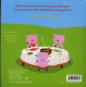 Les trois petits cochons - 4ème de couverture - Format classique