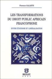 Transformations dt public africain franc - Couverture - Format classique